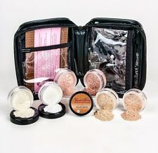 WARM XXL KIT w/ CASE Full Size Mineral Makeup Set Bare Skin Powder Foundation