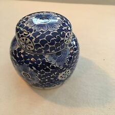 Royal Delft Porcelain Blue & White Blue Small Ginger Jar Vintage