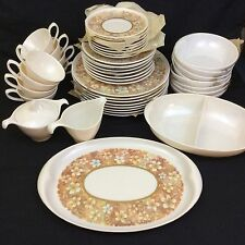 1960's Lenox Ware Melamine 45 Piece Service for 8 Vintage Pattern New Old Stock