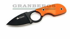 Kizlyar Supreme Amigo Z Knife AUS-8 Steel Black Finish Hi-Vis Orange G-10 Russia