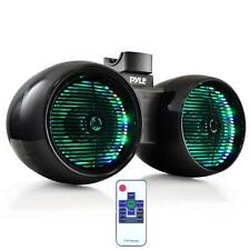 "NEW Pyle PLMRWB652LEB Dual 6.5""  Marine Tower Wakeboard Speakers  Lights  400W"