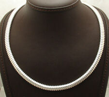 """20"""" All Shiny Tubogas Necklace Chain with Senora Clasp Real Sterling Silver 925"""
