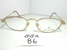 New LISE WATIER Lunettes Eyeglass Frame Nicolet LW 022-653 Red Gold (BBA-86)
