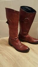 Vintage MANFIELD Riding Boots,Brown Leather UK5/EU38