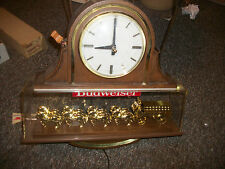 Budweiser Vintage Clydesdale horse Clock Sign Beer light