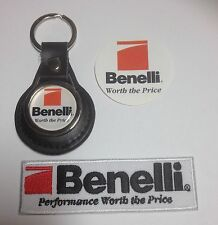 Benelli Guns Shooting: Genuine Leather Key Ring, Patch  & Sticker
