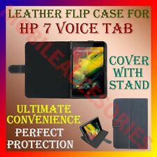 "ACM-LEATHER FLIP COVER & STAND for HP 7 VOICE TAB 7"" TABLET CASE HOLDER NEW"