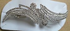 Silver Crystal Diamante  Hair Barette Clip Pin New Design No 3