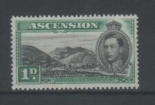 ASCENSION ISLAND KING GEORGE VI GREEN MOUNTAIN ONE PENNY MINT
