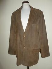Vintage Pitkin County Dry Goods Suede Leather Jacket Sport Coat Blazer Mens s 44