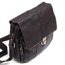 Vintage Style Men's Women's Genuine Leather Messenger Shoulder Bag Satchel-0980