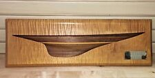 """Half Hull Wall Plaque Endeavor 1934 J scale  Signed D Wells Approx. 26"""""""