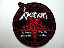 VENOM  IN LEAGUE WHIT SATAN LIVE LIKE ANGEL   EMBROIDERED  PATCH