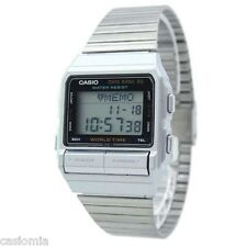 Casio DB520A-1 Databank Men's Stainless Steel Watch 50 Page Telememo RARE NEW