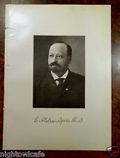 Antique Print 1912 DR.EBENEZER ALDEN DYER Whitman, MA Massachusetts