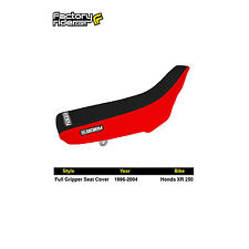 1996-2004 HONDA XR 250 R Red/Black FULL GRIPPER SEAT COVER BY Enjoy MFG
