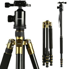 "K&F Concept TM2534 Pro Camera Tripod Monopod Ball Head for Canon Nikon 64"" UK"