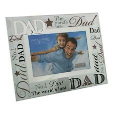 "Dad Regalo-Worlds Best Dad VETRO FOTO FRAME 6 ""X4"" fg573d"