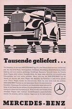 1933 Mercedes-Benz Tausende geliefert 14x23 cm original Printwerbung