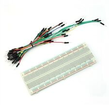 MB102 830 Tie Points Solderless PCB Breadboard MB-102 + 65PCS Jumper cable wires