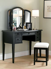 Powell 502-290 Antique Black w/ Sand Through Terra Cotta Vanity Mirror & Bench
