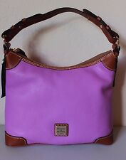Dooney & Bourke Magenta Pink Ginger Pouchette Crossbody Pebble Grain Leather NEW