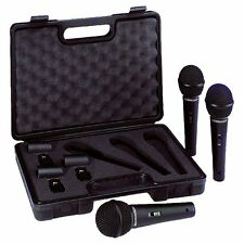 Behringer ULTRAVOICE XM1800S Dynamic Cardioid Vocal Microphones, 3-Pack, New