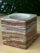 Onyx Candleholder Multi Color Natural Stone Candleholder Ritual Metaphysical.