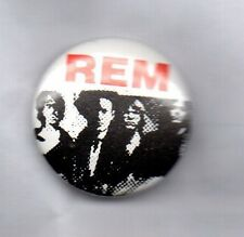 R.E.M BUTTON BADGE American Rock Band - Everybody Hurts - Document 25mm PIn REM