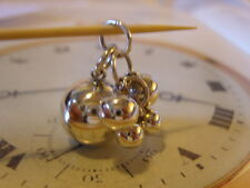 VINTAGE SOLID SILVER POCKET WATCH CHAIN BALL FOB/PENDANT/CHARM.