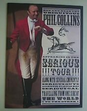 PHIL COLLINS SERIOUS TOUR PROGRAMME GLOSSY COLOUR CONCERT BOOK UK