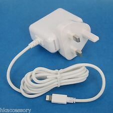 12W AC Wall Charger with UK British Plug WHITE for iPhone 6s 6 Plus 5s 5c 5