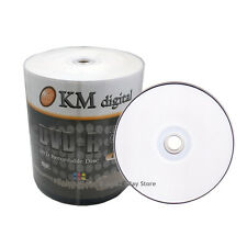 WHOLESALE 500 16x White Inkjet HUB Printable Blank DVD-R Media Disc FAST SHIP