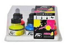 Daler Rowney FW Ink 6 x Neon Colours Set - Fluorescent