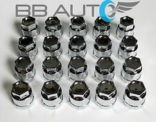 20 NEW CHROME LUG NUT COVERS CAPS CAMARO S10 BLAZER CAVALIER JIMMY SONOMA REGAL