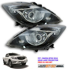 Genuine 2016 Face Lift New Mazda Bt50 Head Lamp Light Led Projector Black Ute
