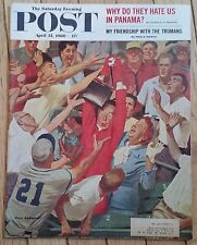 THE SATURDAY EVENING POST APRIL 23 1960 FRIENDS WITH TRUMANS HATE IN PANAMA