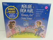 New Sealed Mattel Men Are From Mars Women Are From Venus Adult Board Game, 1998
