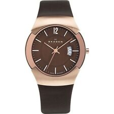 SKAGEN 981XLRLD Black Label Executive Rose Gold-tone/Brown Watch £199rrp NEW