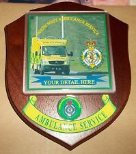 North West Ambulance Service wall plaque personalised free of charge.