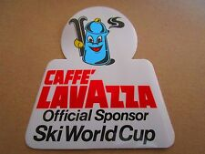 AUTOCOLLANT STICKER AUFKLEBER COFFEE CAFE CAFFE LAVAZZA SPONSOR SKI WORLD CUP