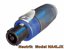 Brand New Genuine Neutrik NA4LJX Speakon to 1/4 Connector Adapter Jack Converter