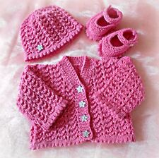 Dk baby knitting pattern not clothes knit girls cardigan hat shoes set emily
