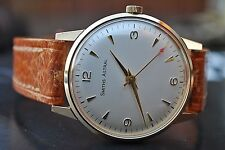 SMITHS ASTRAL 9CT GOLD VINTAGE GENTS PRESENTATION WATCH c1960 MADE IN ENGLAND