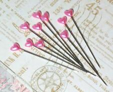 Maya Road Trinket Pins HEARTS Hot Pink Bubblegum 15p Scrapbook Mixed Media DIY