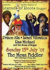 PRINCE ALLA ISRAEL VIBRATION RAS MICHAEL THE MEAN FIDDLER Music Flyer Handbill