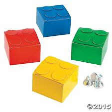 Color Brick Party Favor Boxes Lot of 12 Treat Boxes Building Blocks