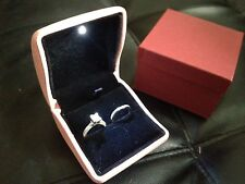Pink LED pu Engagement Wedding Ring Earrings Keepsake Pendants Jewelry Gift Box