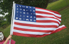 Corporate America American Flag 5'x3' OCCUPY Wall Street Anonymous OWS ANON