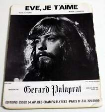 Partition vintage sheet music GERARD PALAPRAT : Eve, je t'Aime * 1972